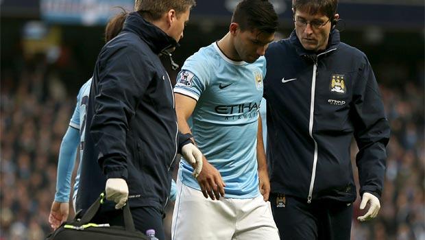 Sergio Aguero Manchester City injured