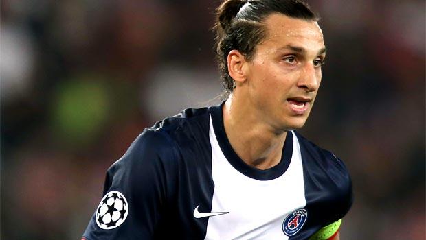 striker Zlatan Ibrahimovic psg
