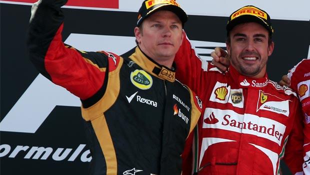 Fernando Alonso and Kimi Raikkonen ferrari