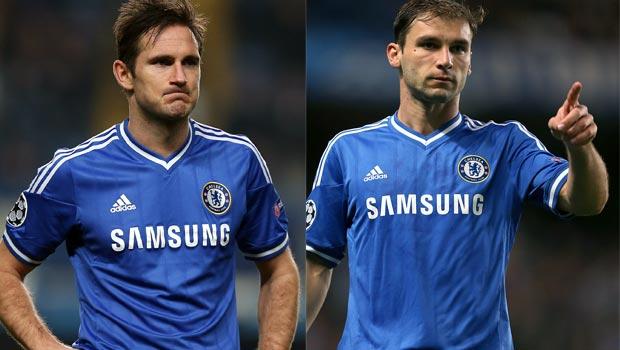Frank Lampard and Branislav Ivanovic chelsea