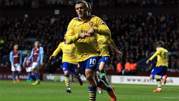 Jack Wilshere arsenal win over aston villa