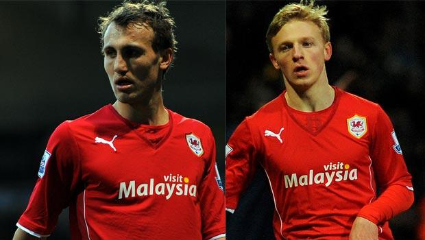 Magnus Wolff Eikrem and Mats Moller Daehli Cardiff City