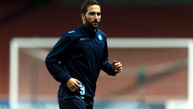 Napoli striker Gonzalo Higuain