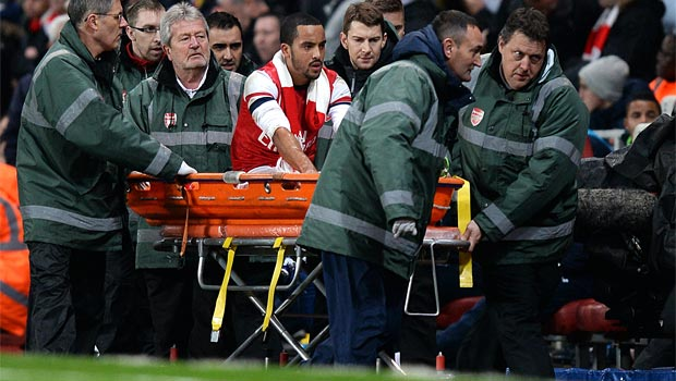 Theo Walcott Arsenal out for rest of season