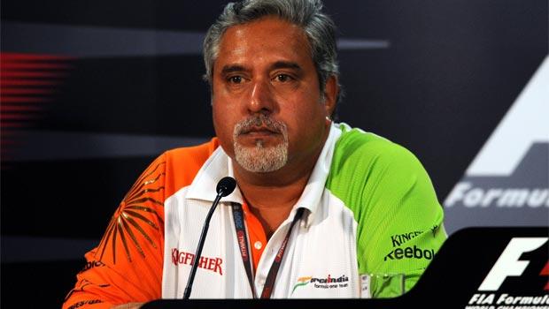 Vijay Mallya Force India team principal