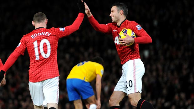Wayne Rooney and Robin van Persie Man United Duo