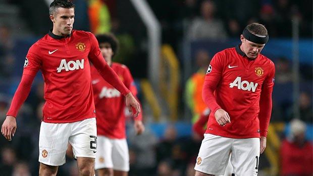 Wayne Rooney and Van Persie Man utd