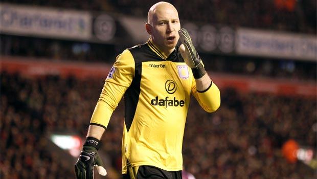 Aston Villa keeper Brad Guzan