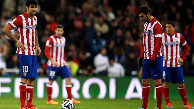Atletico Madrid slip from top