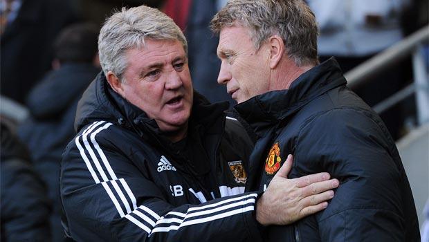 Hull boss Steve Bruce and David Moyes