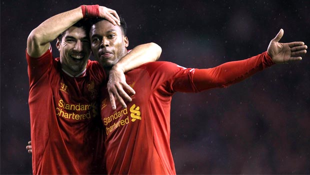 Luis Suarez and Daniel Sturridge liverpool