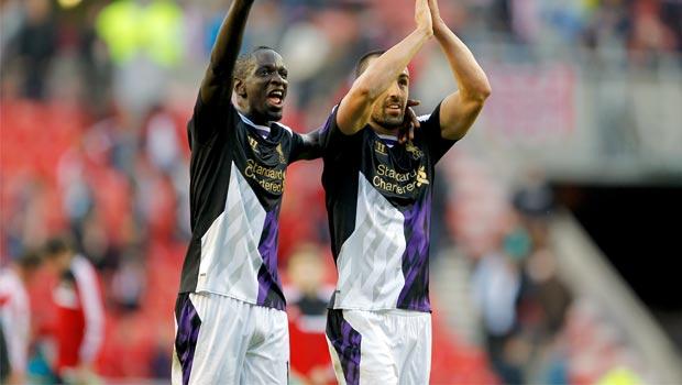 Mamadou Sakho and Jose Enrique liverpool