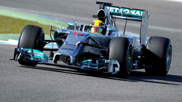 Mercedes driver Lewis Hamilton 2014 testing