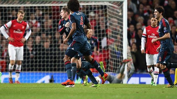 Toni Kroos goal arsenal v Bayern Munich