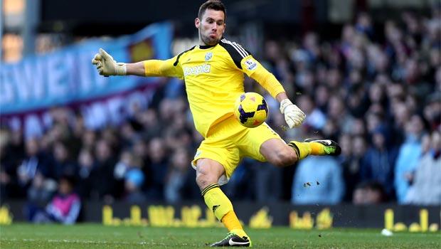 West Brom goalkeeper Ben Foster