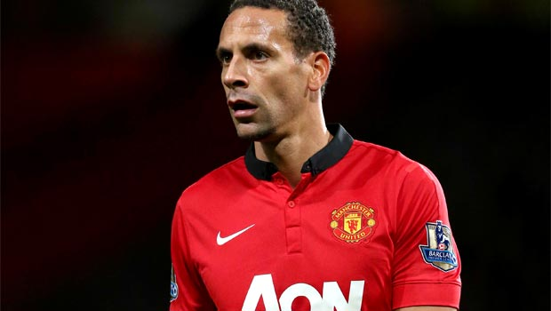 centre-back Rio Ferdinand Man United