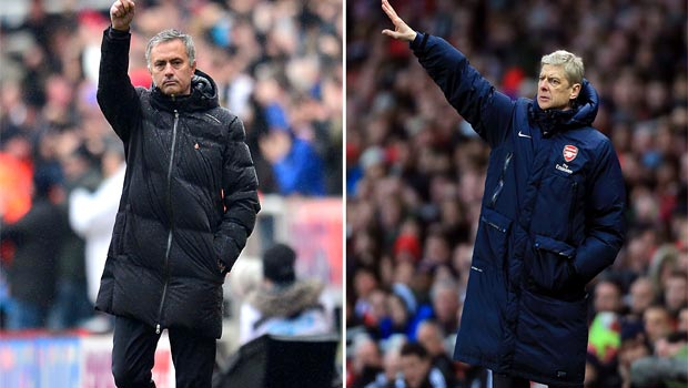 jose mourinho chelsea and Arsene Wenger arsenal