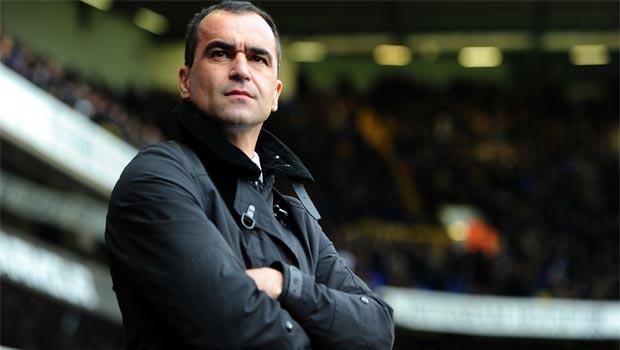 manager Roberto Martinez everton
