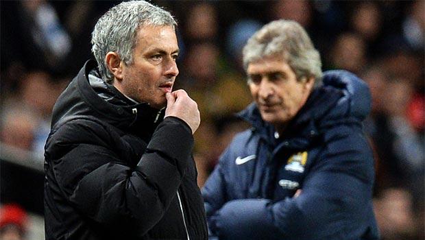 mourinho chelsea and Manuel Pellegrini man city