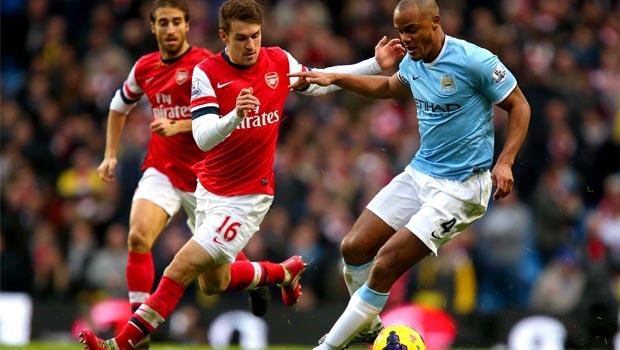 Aaron Ramsey Arsenal v man city