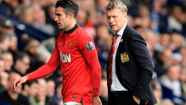 David Moyes and Robin van Persie Man United