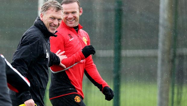 David Moyes and Wayne Rooney Manchester United