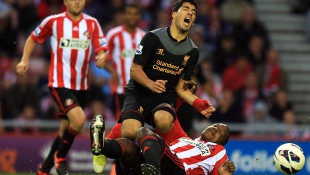 Luis Suarez Liverpool v Sunderland
