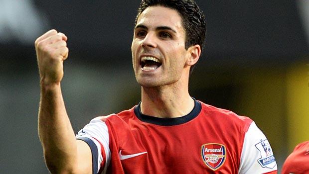 Mikel Arteta Arsenal midfielder