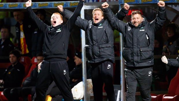 Neil Lennon Celtic Manager title winning
