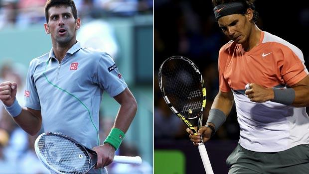 Novak Djokovic and Rafael Nadal Sony open