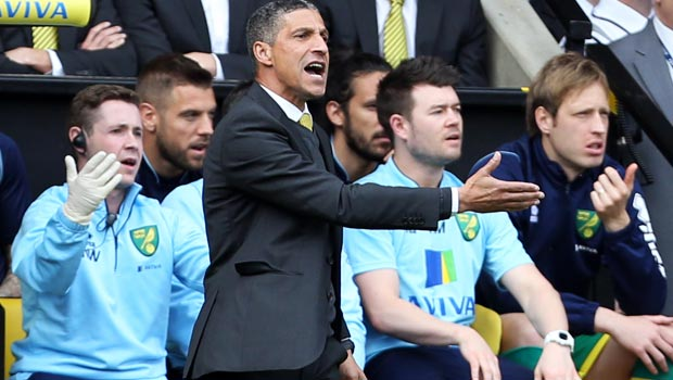 Chris Hughton Norwich City manager