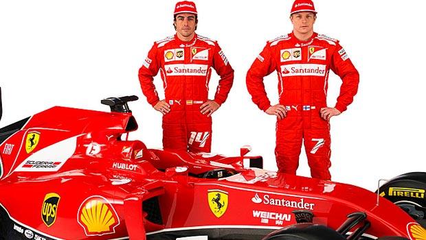 Fernando Alonso and Kimi Raikkonen Ferrari formula one f1