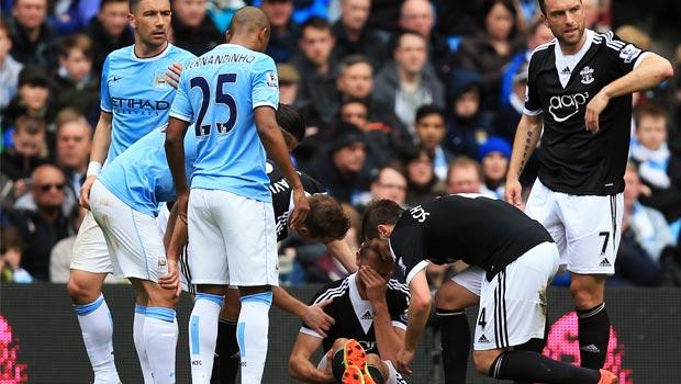 Jay Rodriguez Southampton gets injured