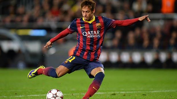 Junior Neymar Barcelona in action