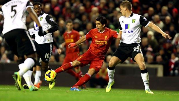 Liverpool v norwich city premier league