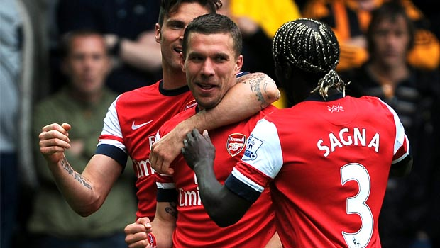 Lukas Podolski Arsenal footballer