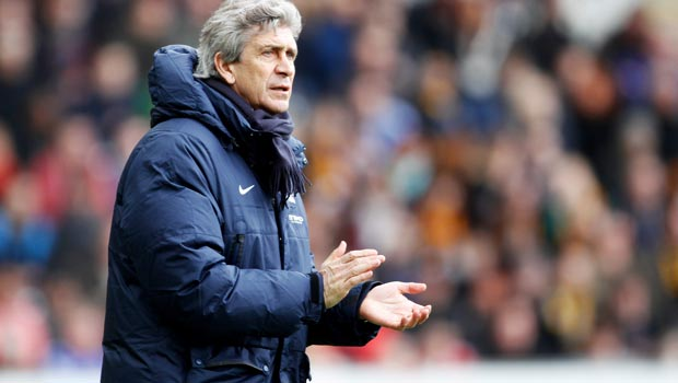 Manuel Pellegrini Manchester City manager against Liverpool
