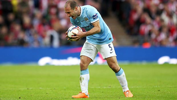 Pablo Zabaleta Manchester City ready for the finals
