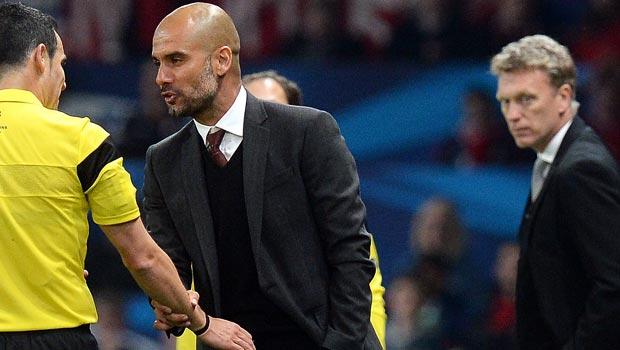 Pep Guardiola Bayern Munich and david moyes man united