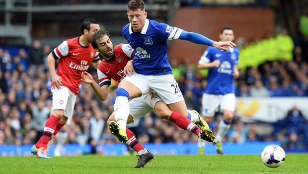 Ross Barkley Everton beating Arsenal Champions League