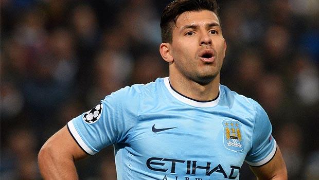 Sergio Aguero Manchester City Striker 2014