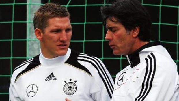 Joachim Low and Bastian Schweinsteiger world cup 2014