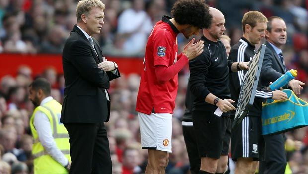 Marouane Fellaini sad david moyes sacking man united