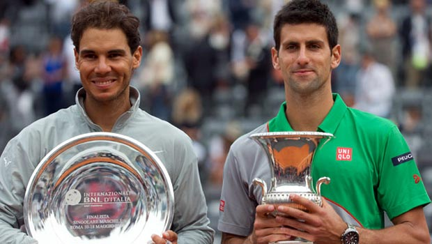 Novak Djokovic beats Rafael Nadal in the Italian Open final 2014