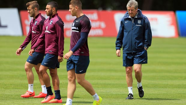 Roy Hodgson England Manager with Jack Wilshere