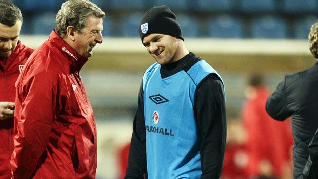 Roy Hodgson England manager and Wayne Rooney