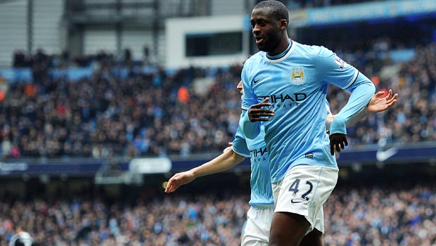 Yaya Toure Manchester City Midfielder