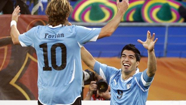 Diego Forlan and Luis Suarez Uruguay