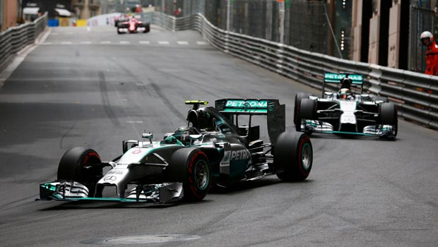 Lewis Hamilton and Nico Rosberg Mercedes Formula 1