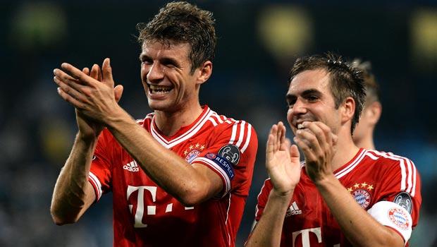 Thomas Muller and Philip Lahm Bayern Munich